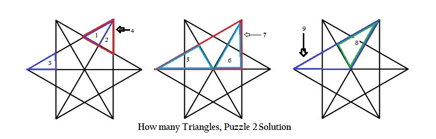 How Many Triangles Puzzle How Many Triangles In This Picture