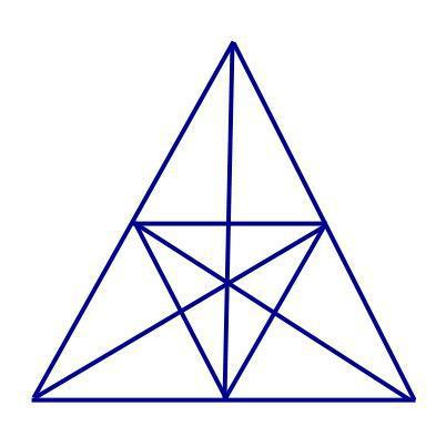 How many triangles are there in this triangle