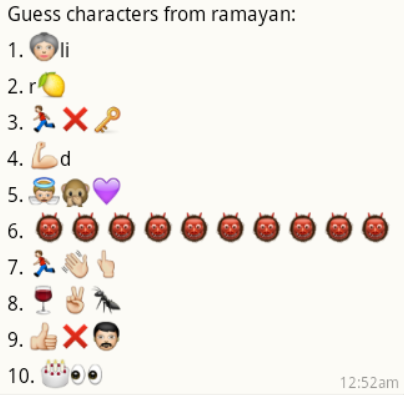Guess Ramayana Characters Names - PuzzlersWorld com