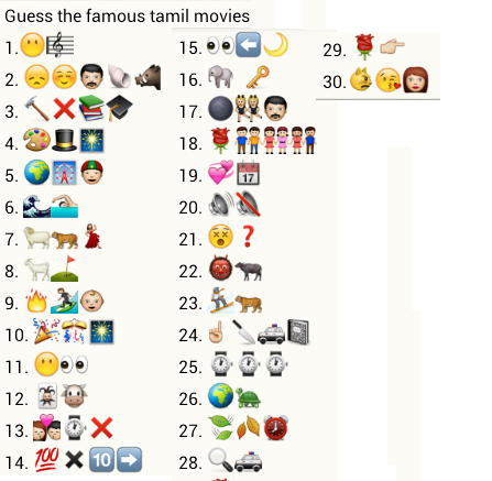 Guess famous tamil movies for What was the name of that movie