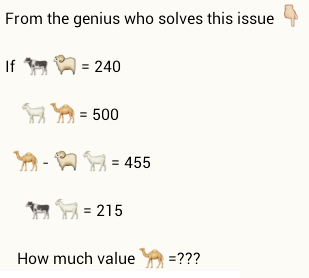 value of camel   puzzlersworld