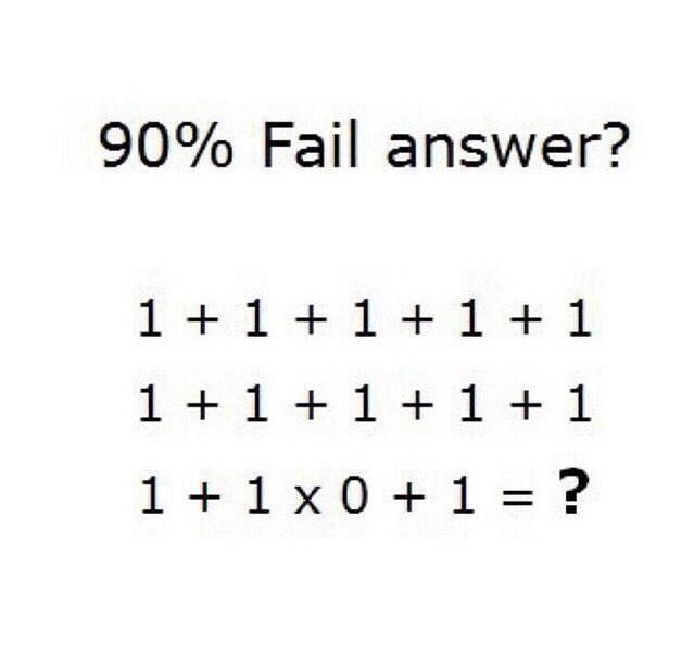 1 1 1 1 1 90 Fail