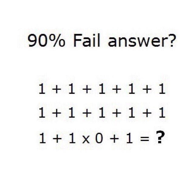 1 1 1 1 1 90 Fail Puzzlersworld Com