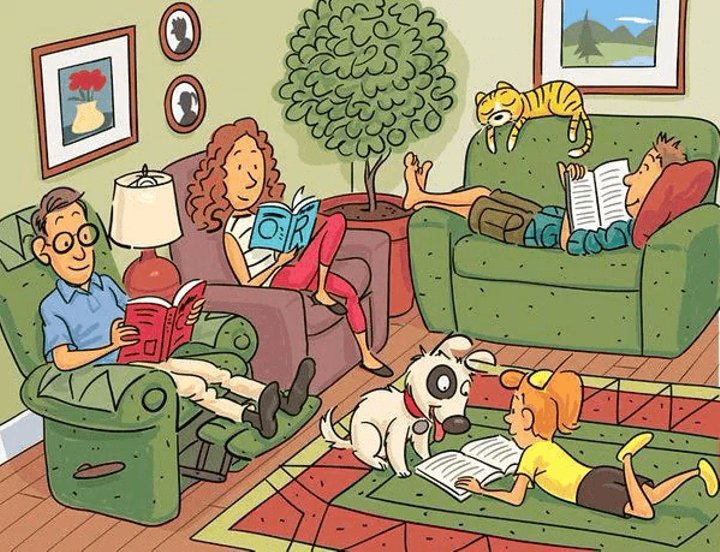 Find 7 hidden words in this picture - PuzzlersWorld.com