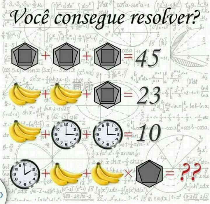 Can You Solve This Viral Math Puzzle That Is Boggling: Clock + Banana + Banana*Shapes = ?